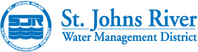 SJRWMD round logo with St. Johns River Water Management text
